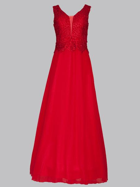 elegantes Kleid lang 13