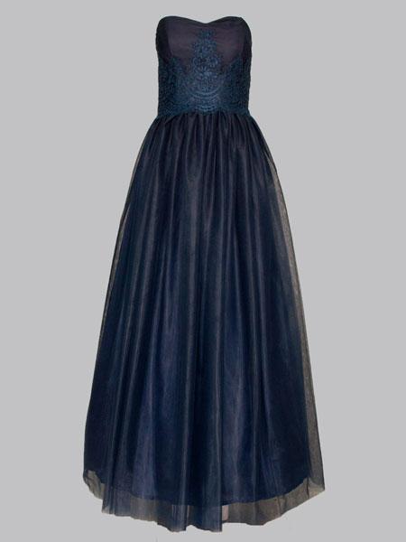 elegantes Kleid lang 38