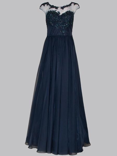 elegantes Kleid lang 40